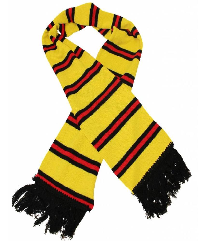 Sjaal gestreept Geel / Zwart / Rood