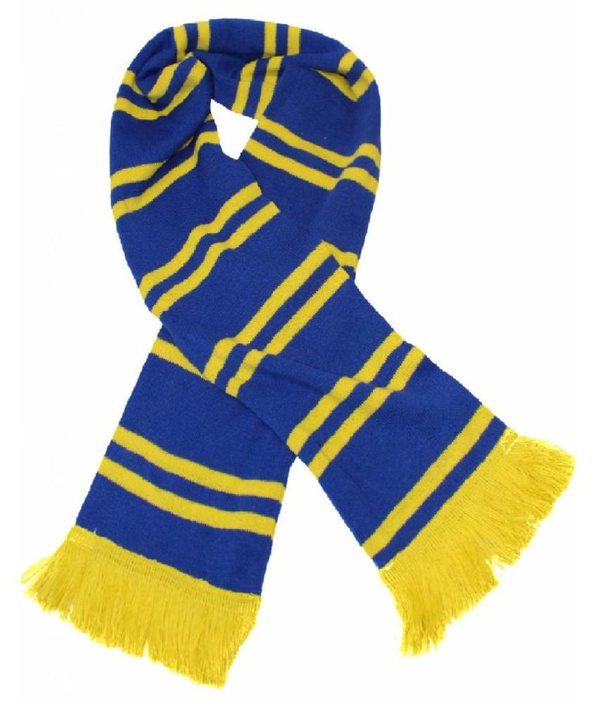 Sjaal gestreept Blauw / geel