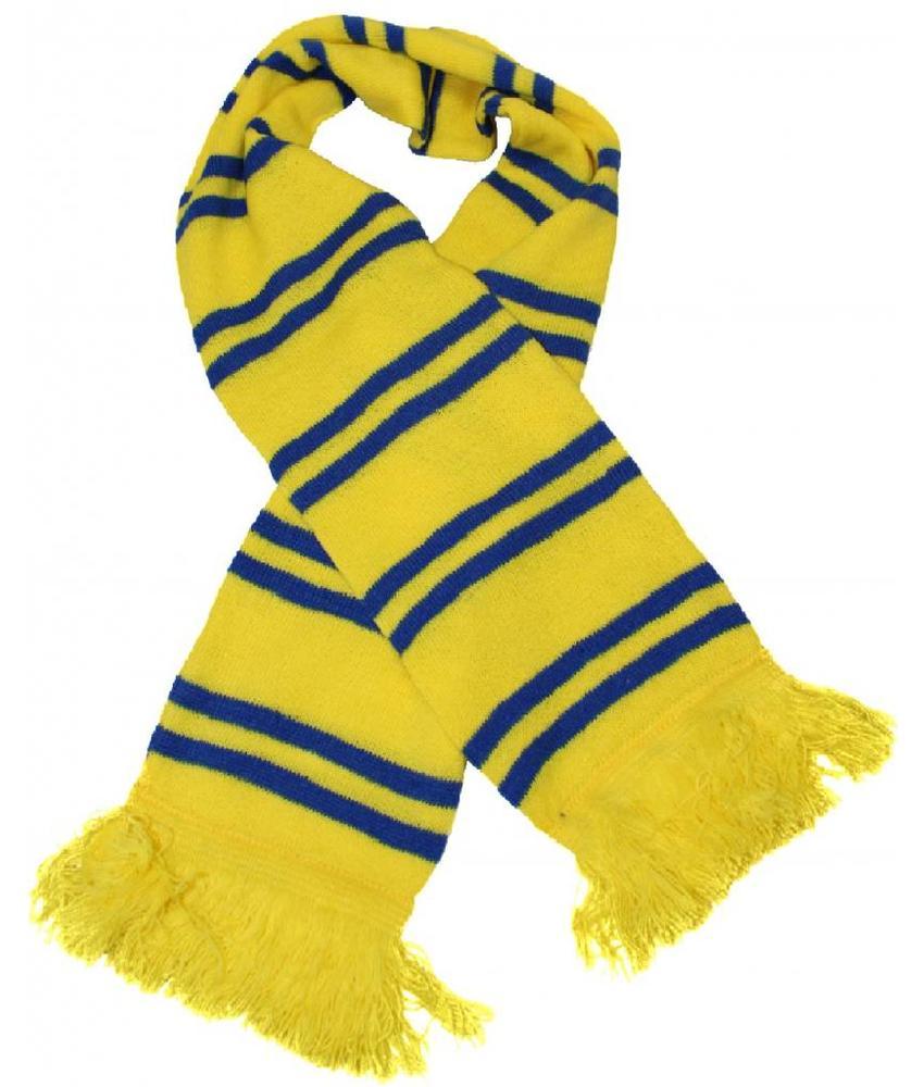 Sjaal gestreept Geel / blauw
