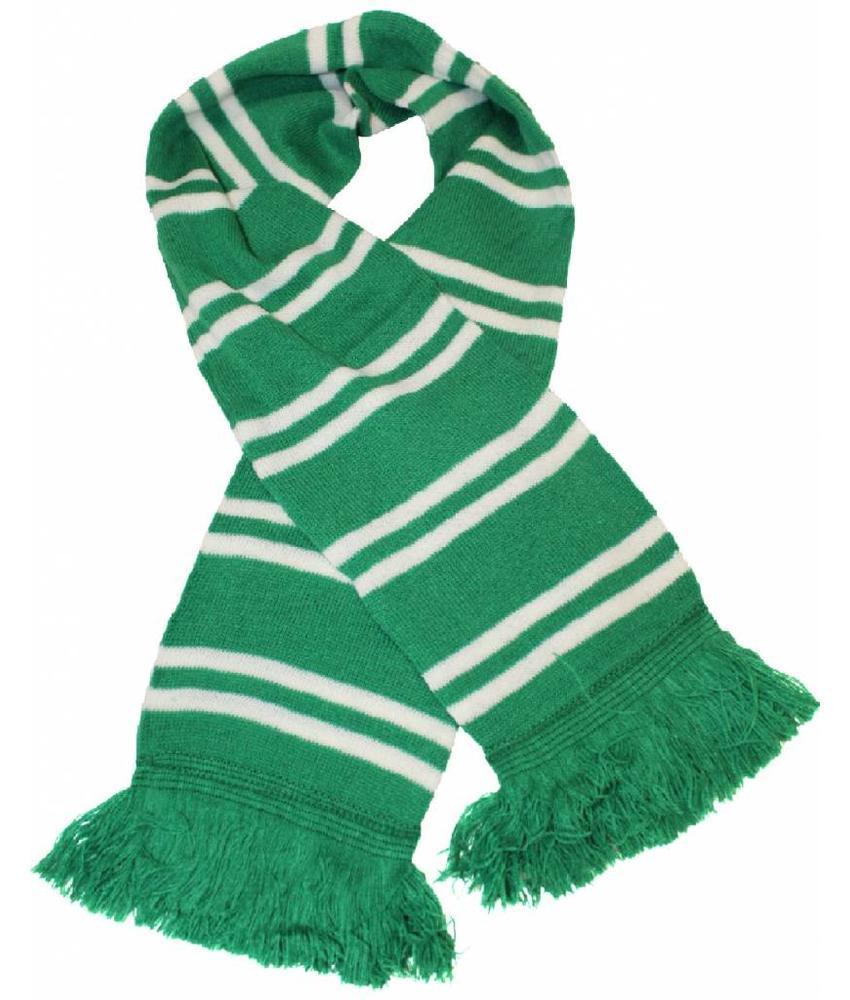 Sjaal gestreept Groen / Wit