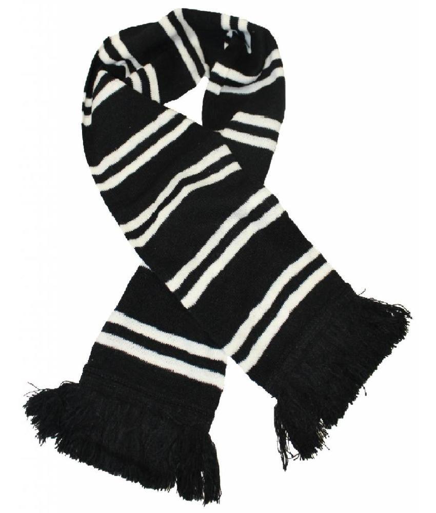Sjaal gestreept Zwart / Wit