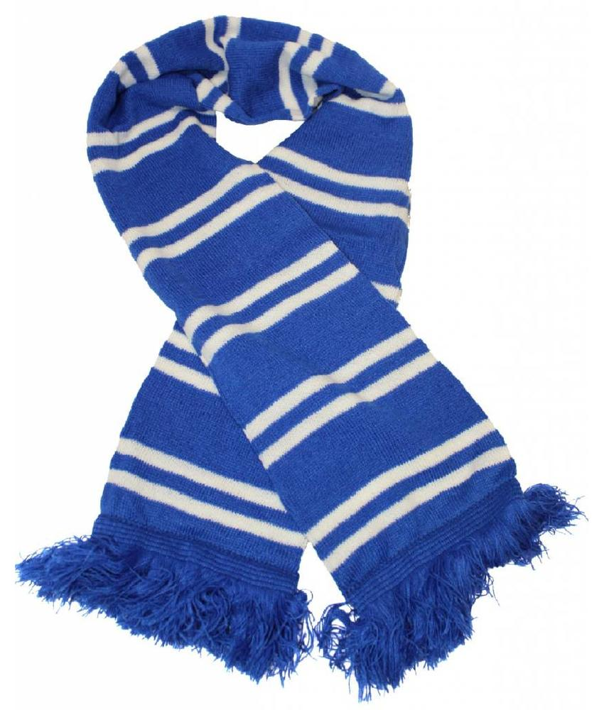 Sjaal gestreept Blauw / Wit