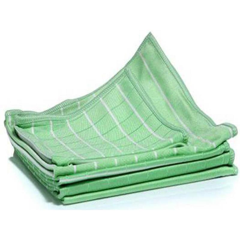 Aqua Laser Bamboe glasdoeken set Groen