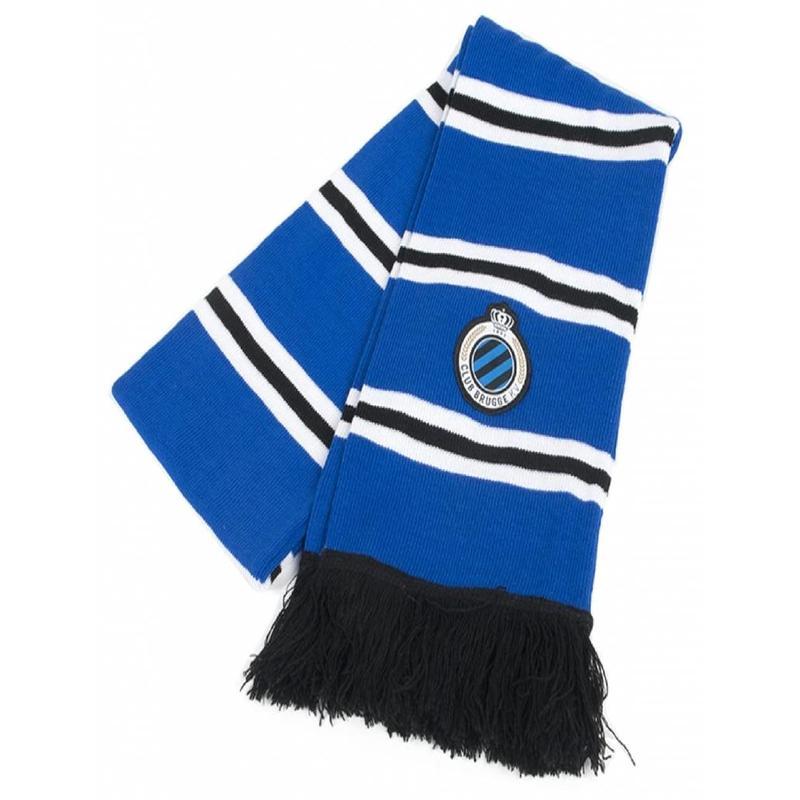 Sjaal Club Brugge gestreept Logo
