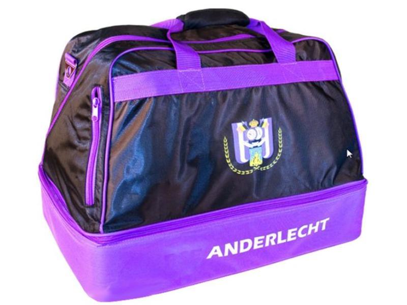 Voetbaltas Anderlecht groot 51x36x38 cm.