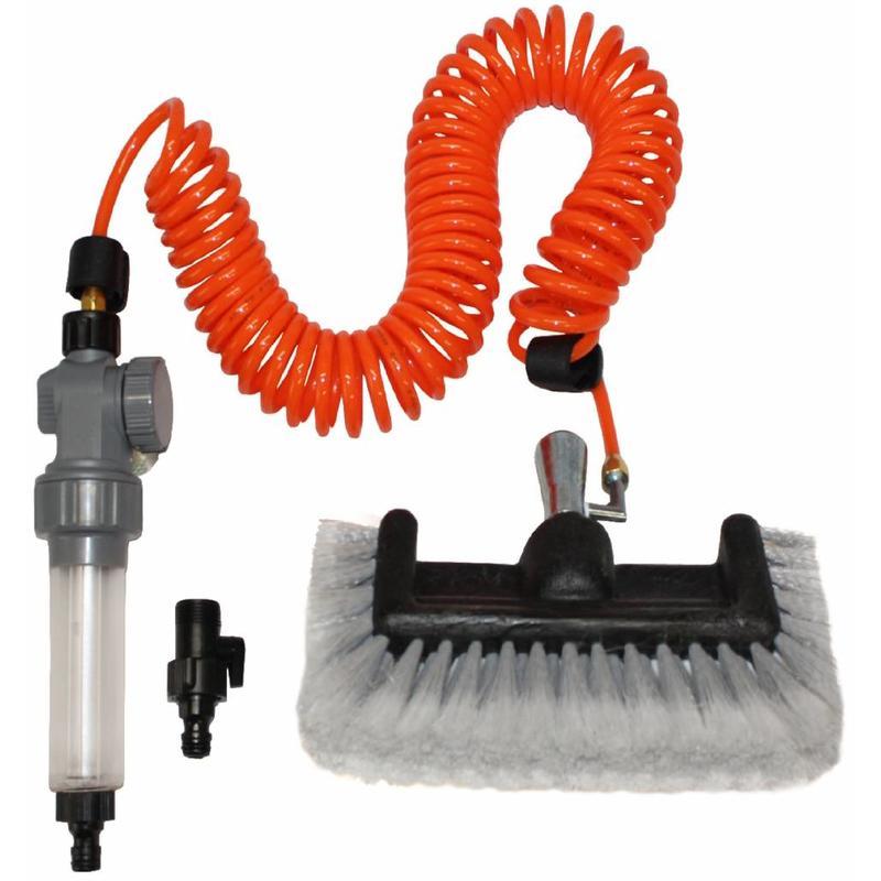 Hydro spiraal + Zeepdispenser + Borstel rondom