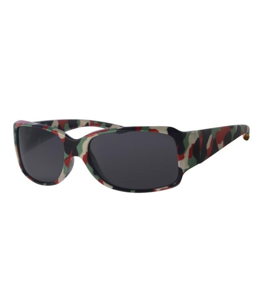 Kinder zonnebril camouflage rood/groen