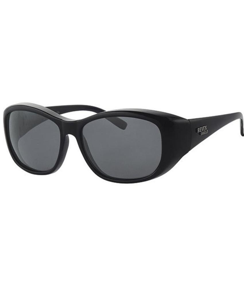 Revex Overzet Zonnebril Shield M/L (zwart)