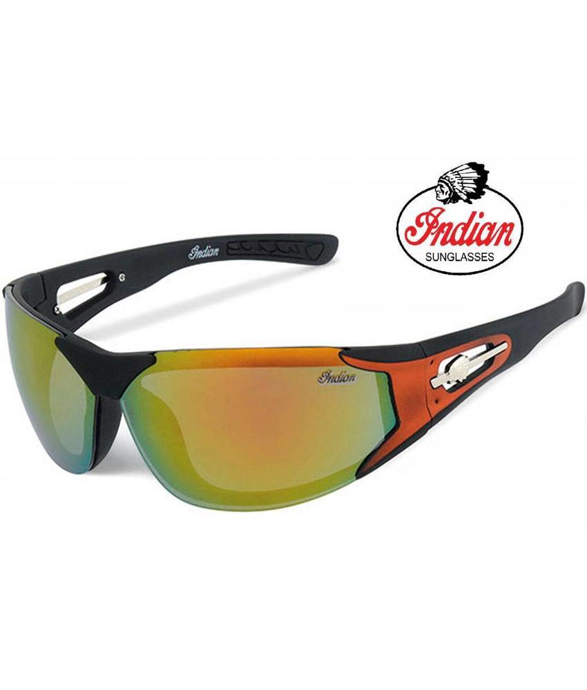 Indian Biker zonnebril spiegelglas