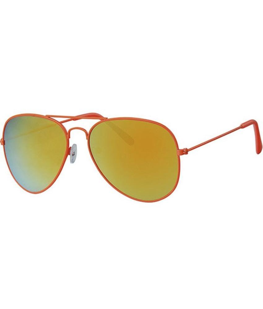 Piloten zonnebril oranje