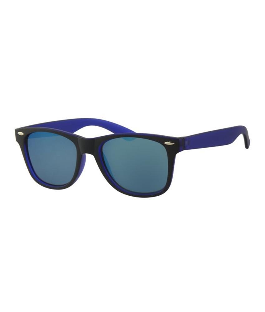 Kids Wayfarer zonnebril Blauw/zwart