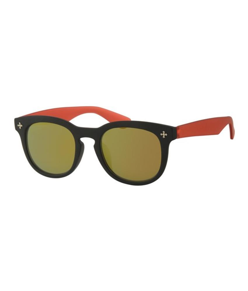 Kids Clubmaster zonnebril Rood/zwart