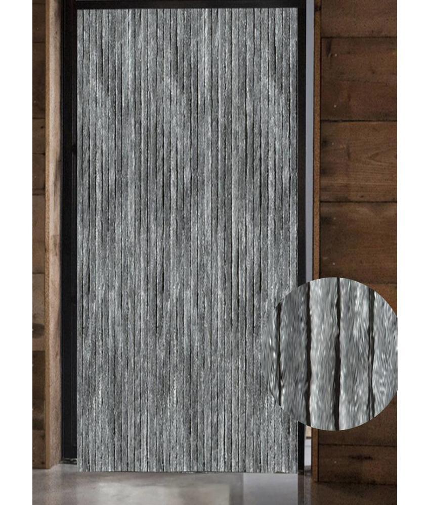 Vliegengordijn kattenstaart 125x230 cm. Grijs