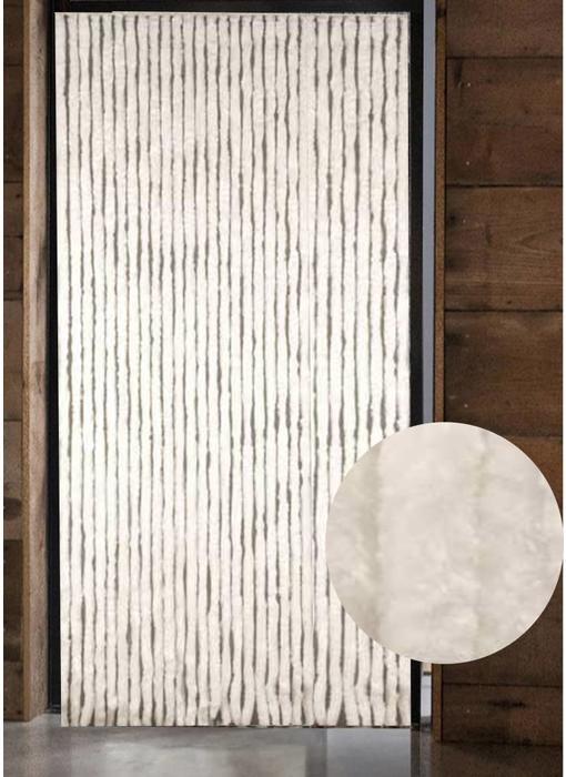 Vliegengordijn kattenstaart 125x230 cm. Wit