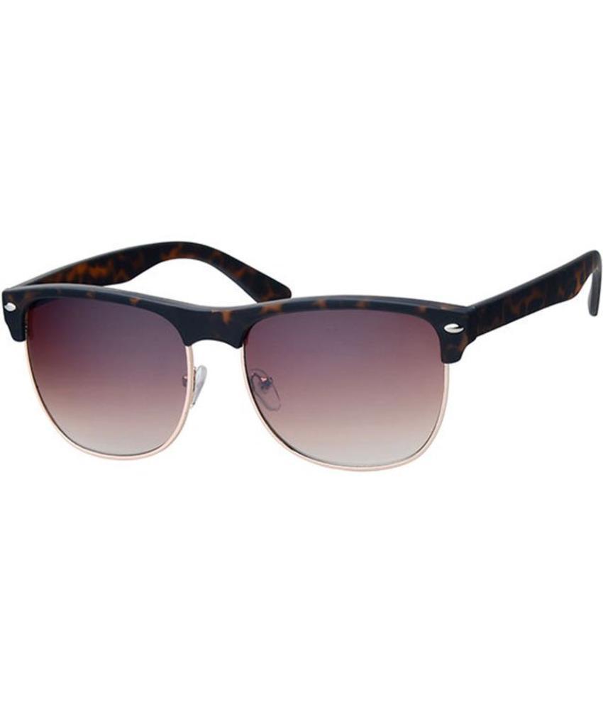 Clubmaster zonnebril Leopard brown / gold rim