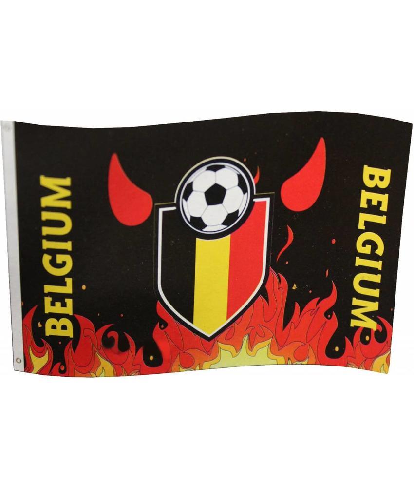 Vlag Belgium fire