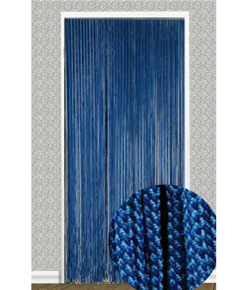 """Vliegengordijn """"Rope"""" Blauw 90X200 cm."""