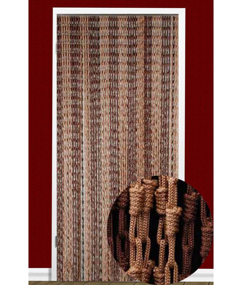 Vliegengordijn Knopen Bruin 90X200 cm.