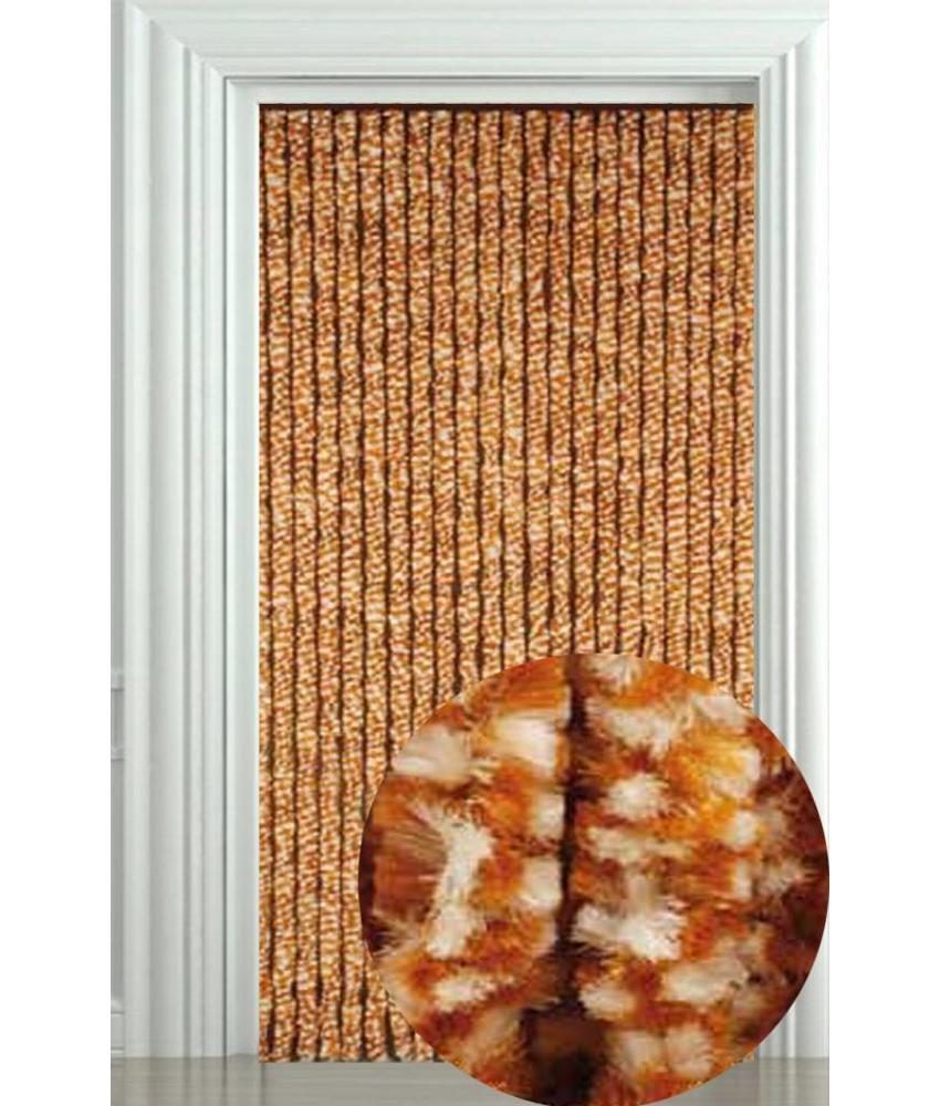 Vliegengordijn Zachte kattenstaart Beige/Wit 90x205 cm.