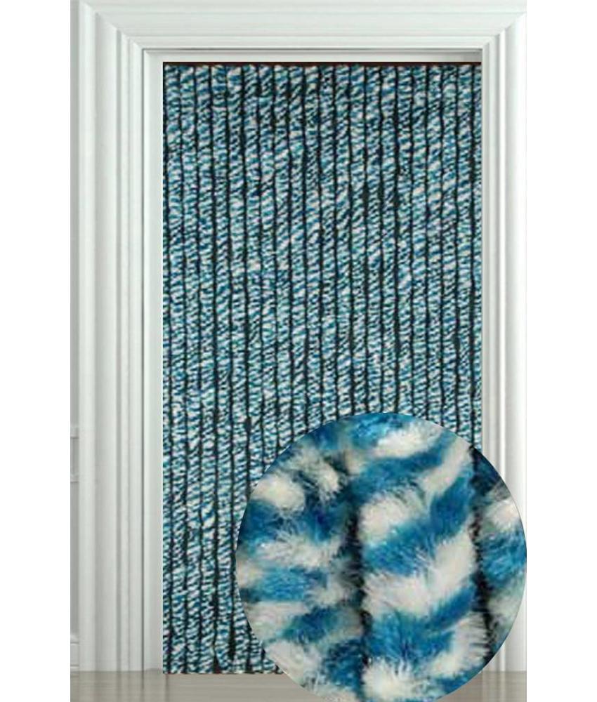 Vliegengordijn Zachte kattenstaart Blauw/Wit 90x205 cm.