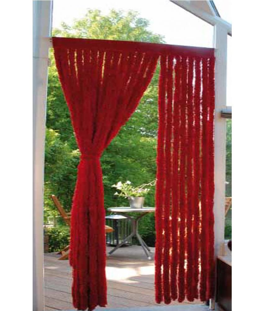 Vliegengordijn lichte kattenstaart Rood 90x200 cm.