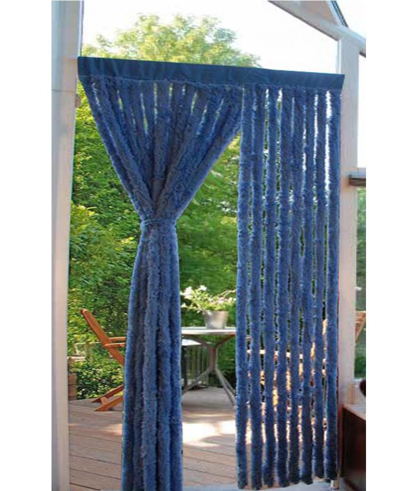 Vliegengordijn lichte kattenstaart Blauw 90x200 cm.