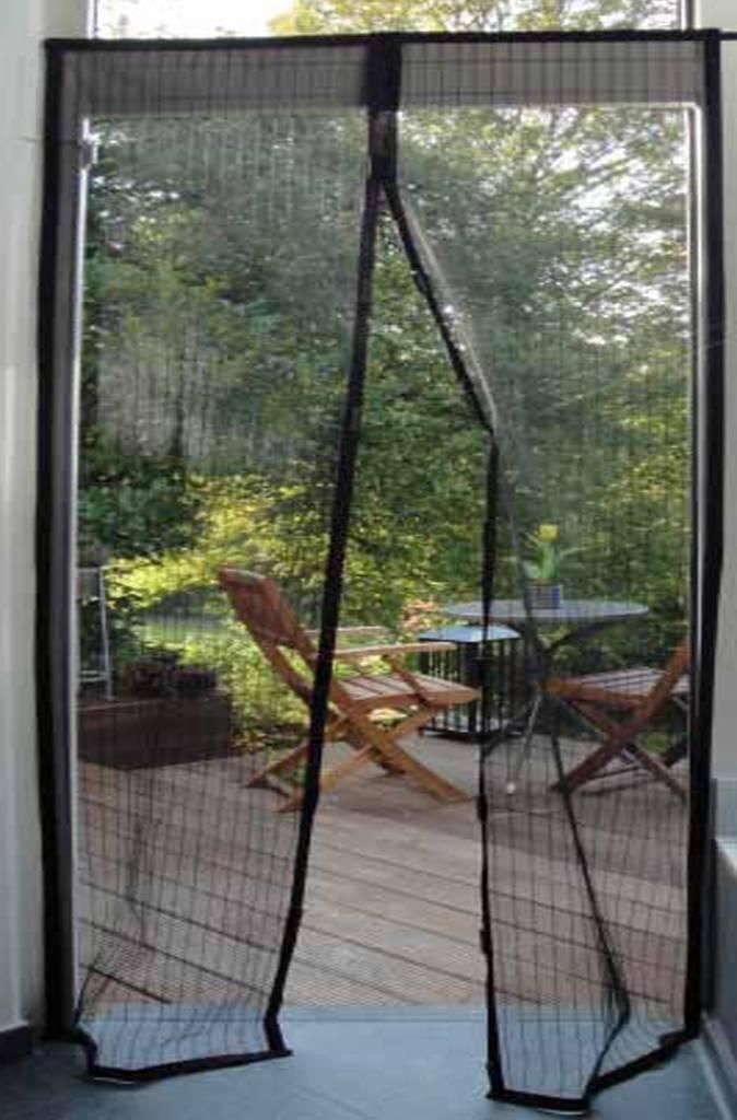 Vliegengordijn Met Magneten.Vliegengordijn Hordeur Met Magneten 100x215 Cm Zwart