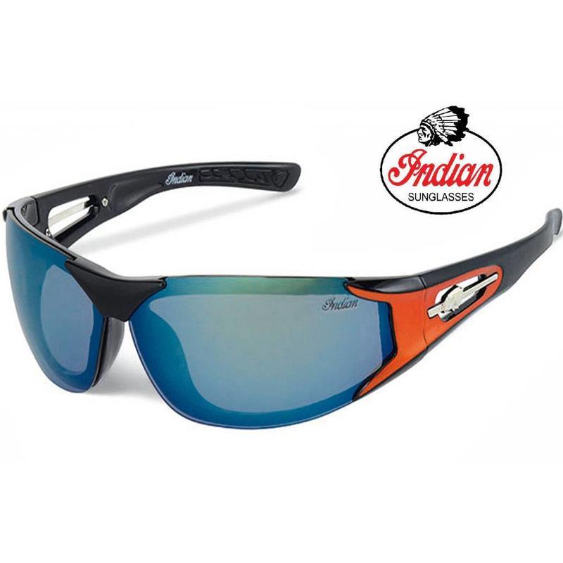 Indian Biker zonnebril zwart/oranje