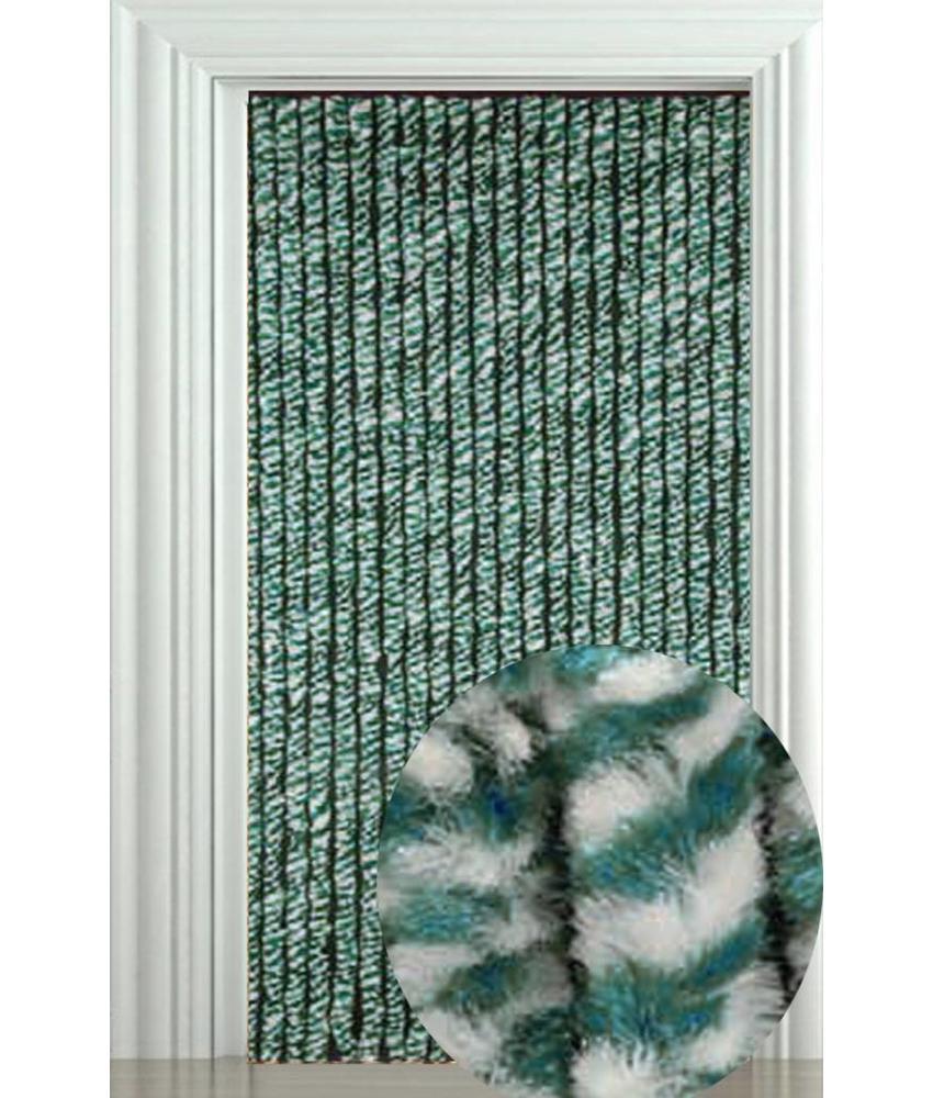 Vliegengordijn Zachte kattenstaart Groen/Wit 90x205 cm.