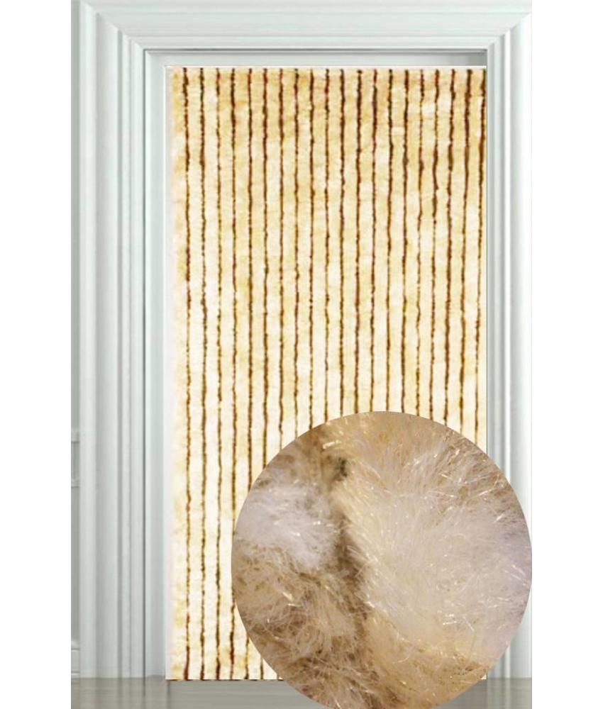 Vliegengordijn Zachte kattenstaart licht Beige/Wit 90x205 cm.