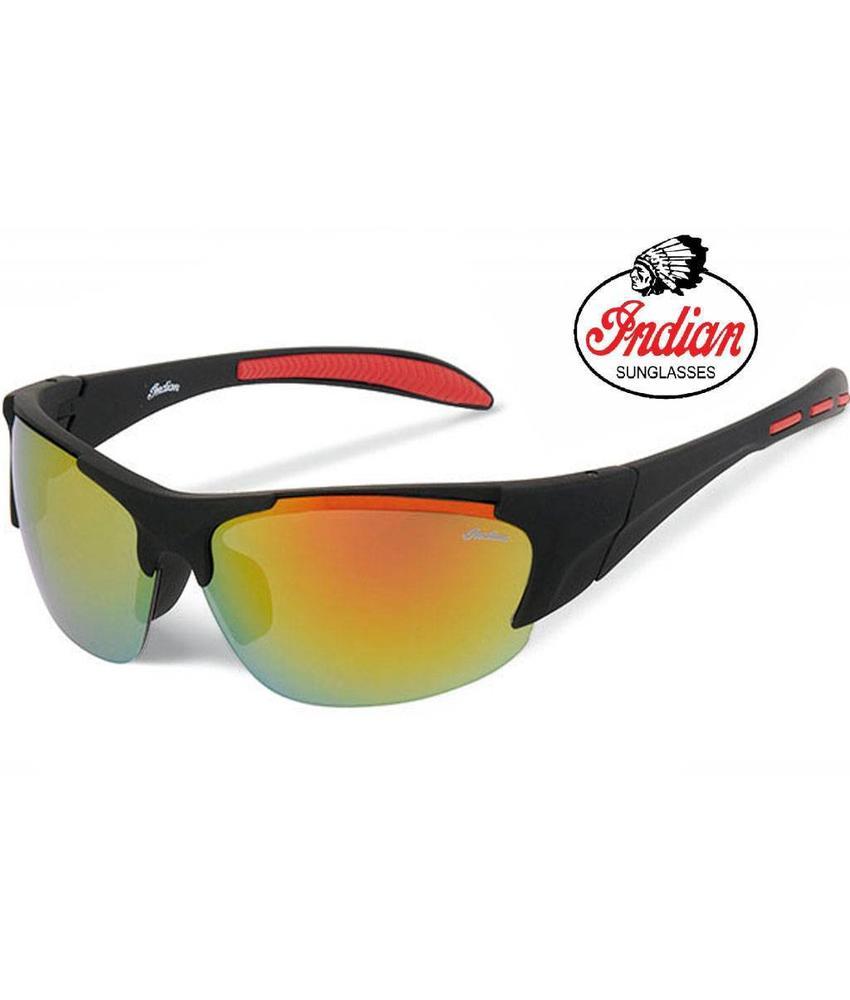 Indian Biker zonnebril zwart/rood