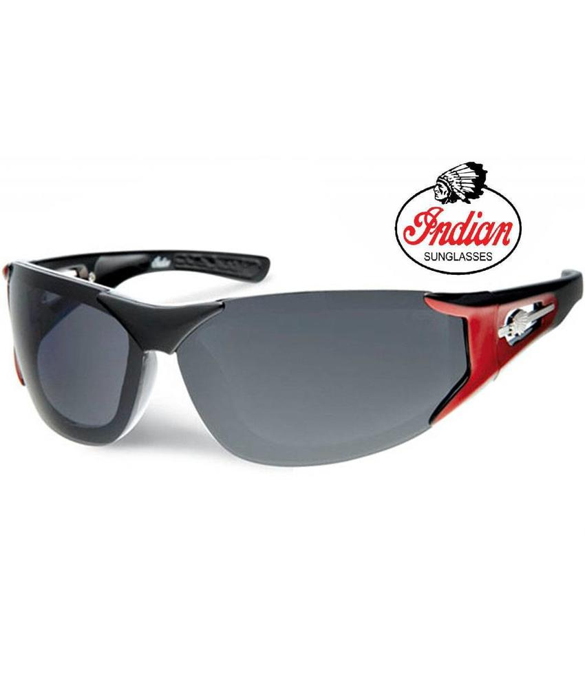 Indian Biker zonnebril black/red Logo