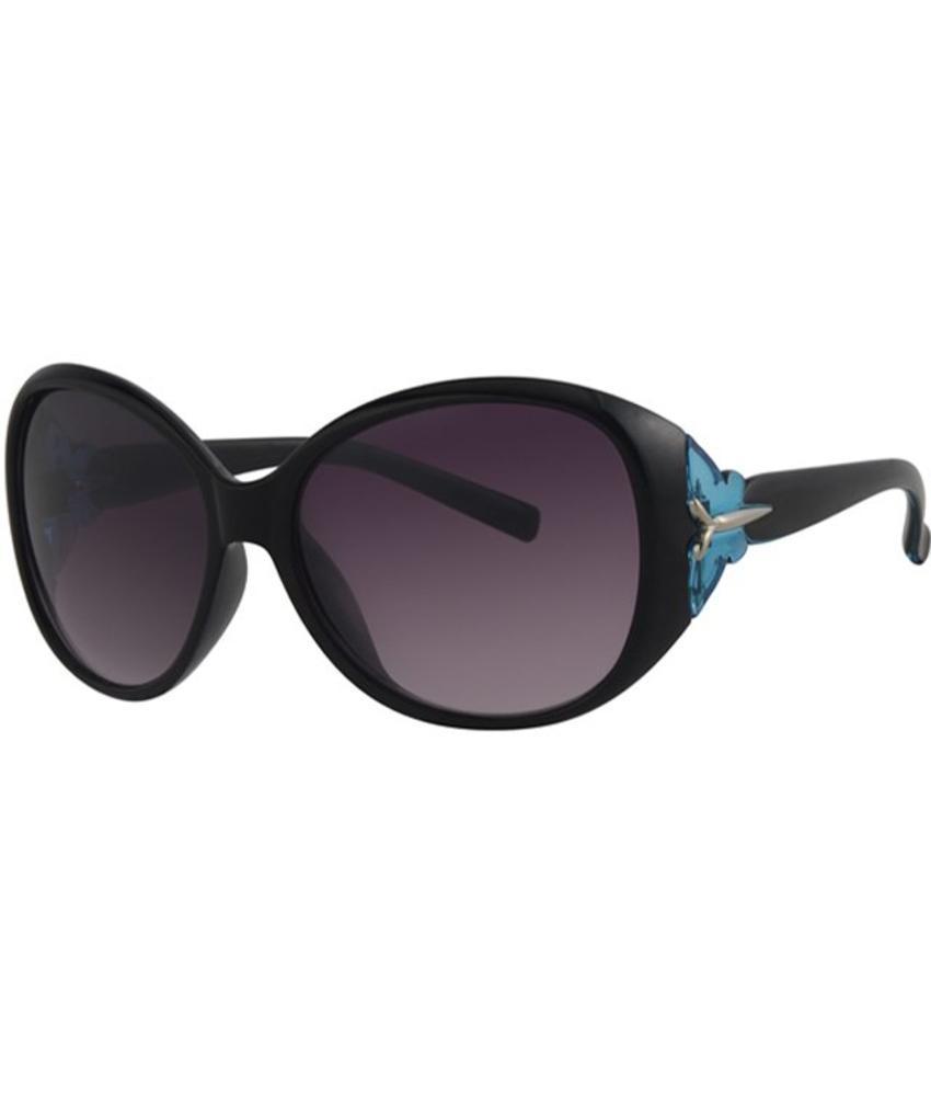 Level One Dames zonnebril zwart/blauw