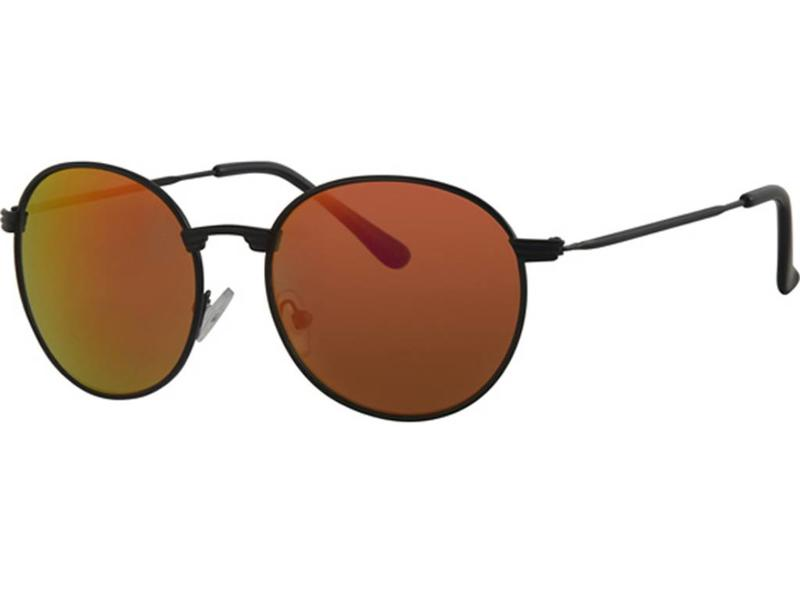 Level One Ronde zonnebril Rood/zwart