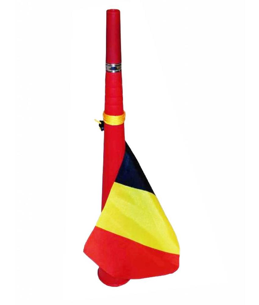 Toeter met België vlag wimpel