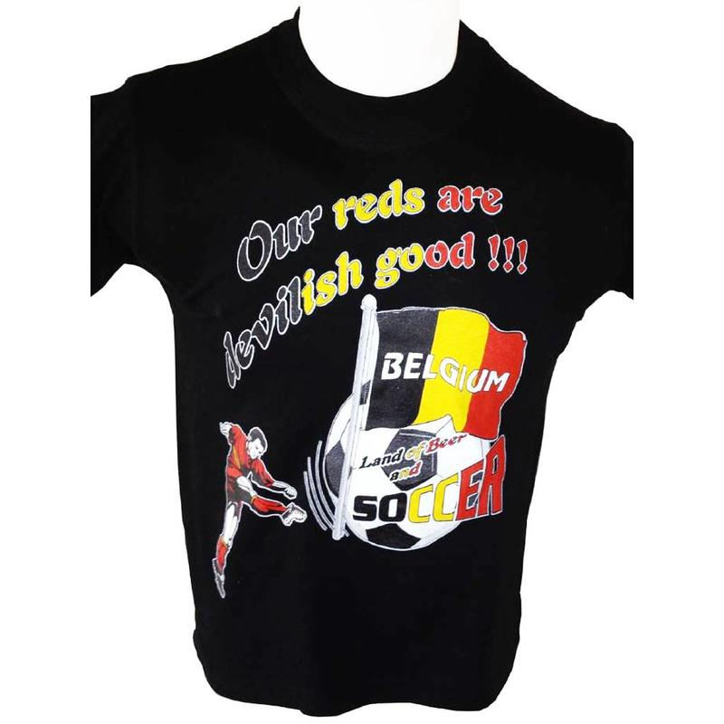 T-shirt Belgium Our reds (zwart)