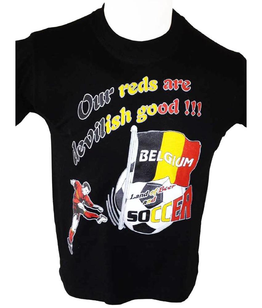 T-shirt Belgium Our reds (zwart)