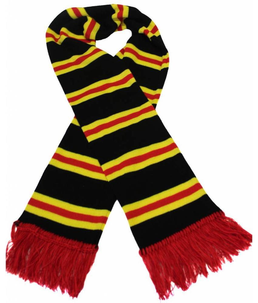 Sjaal gestreept Zwart / Geel / Rood
