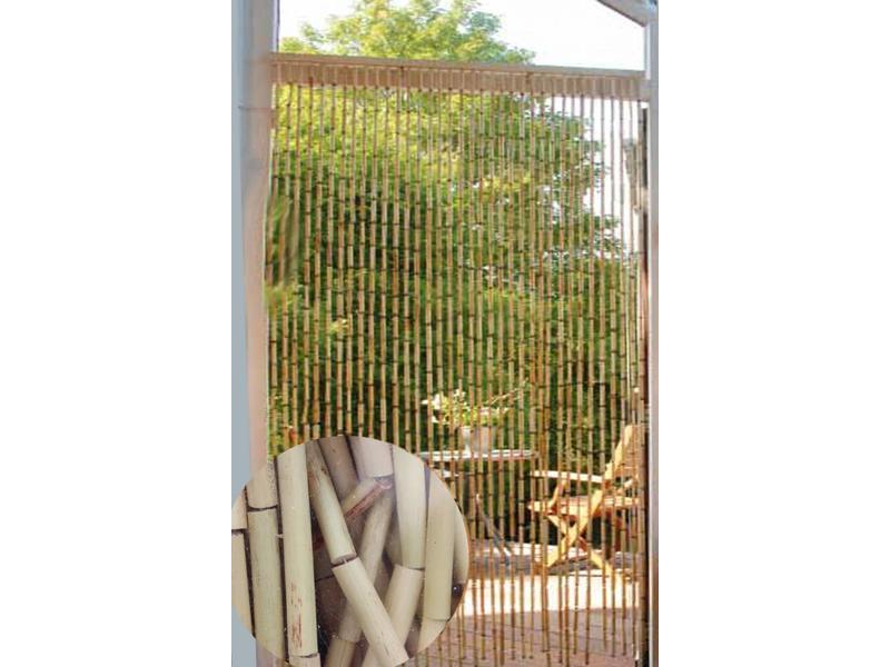 Vliegengordijn 110 Cm.Vliegengordijn Bamboe 90 X 200 Cm Natural Sorgho