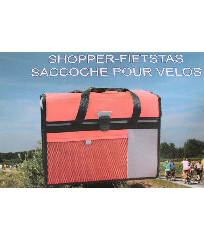 Fietstas - Shopper Rood