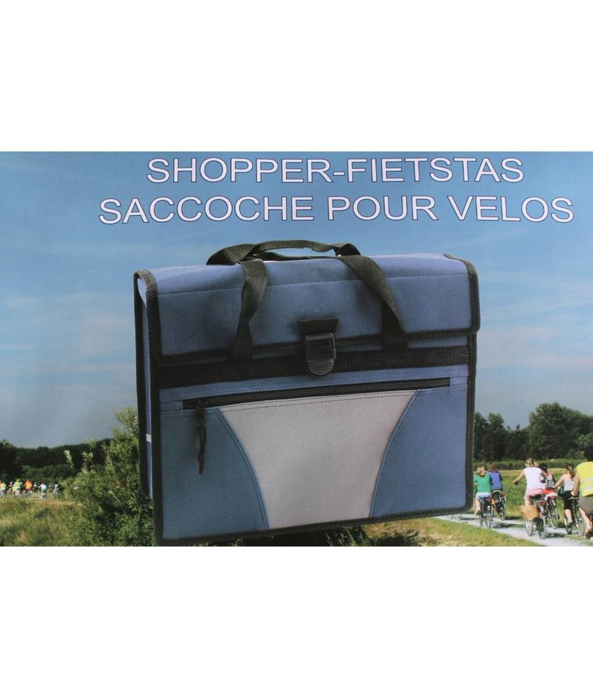 Fietstas - Shopper blauw/grijs