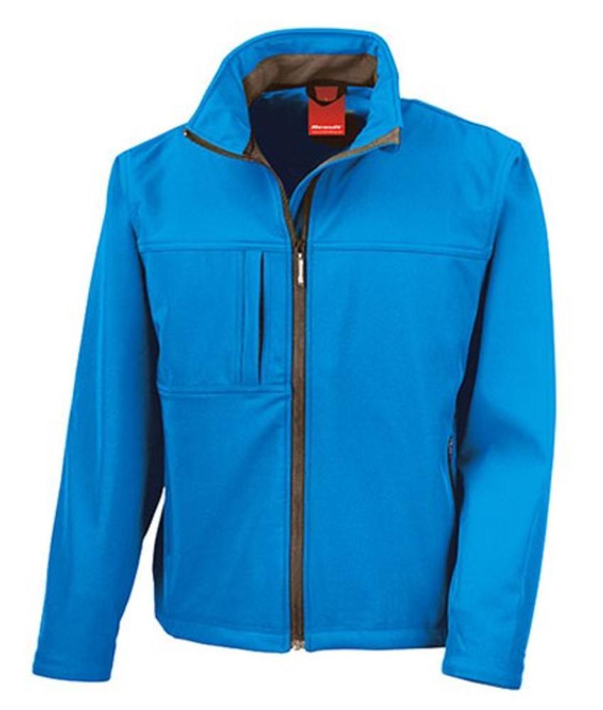 Softshell regenjas Classic Azure blauw