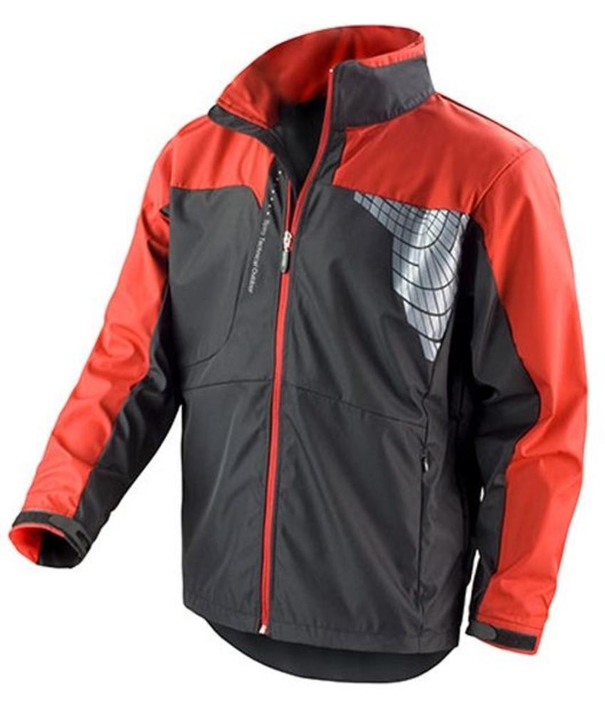 Softshell 3 laag sport jas zwart/rood
