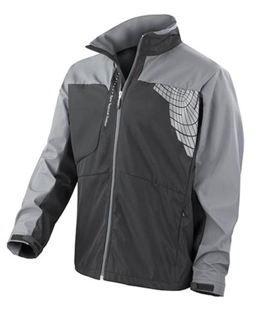 Softshell 3 laag sport jas zwart/grijs