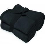 Fleece deken Microflush 130x180 cm Zwart
