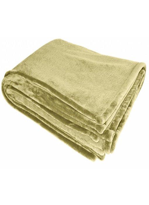 Flanellen deken 200x150 cm Sand