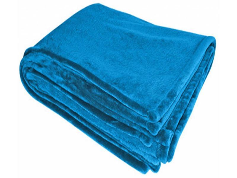 Flanellen deken 200x150 cm Royal Blue