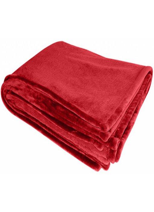 Flanellen deken 200x150 cm Red