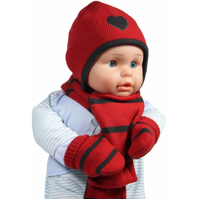 Baby winterset rood / grijs