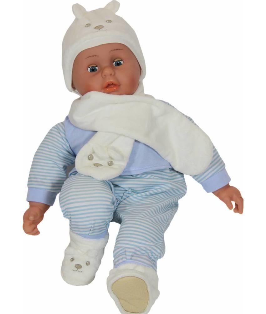 Baby Muts - Sjaal en Pantoffels ecru